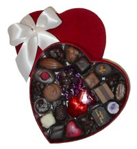 Show product details for Velvet Heart Chocolate Assortment-Vegan